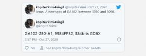 疑似英伟达RTX 3080 Ti曝光:核心配置有明显提升