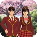 高校女生樱花校园生活